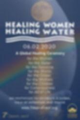 HEALING WOMEN HEALING WATER poster with