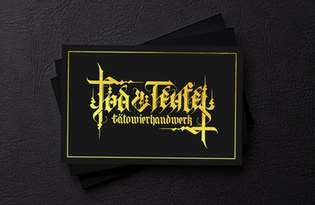 Tod & Teufel Tätowierhandwerk Visitenkarte