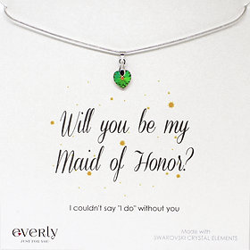 Swarovski Crystal Elements Ogrlica - Will you be my Maid of Honor?