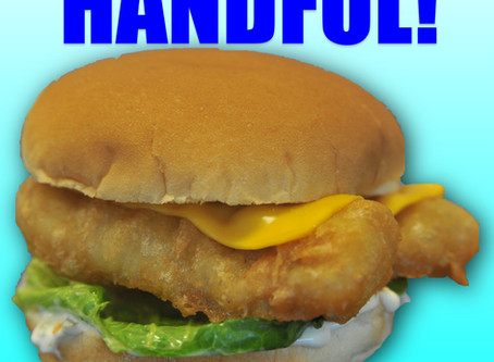 Our Cod Sandwich is a REAL HANDFUL!