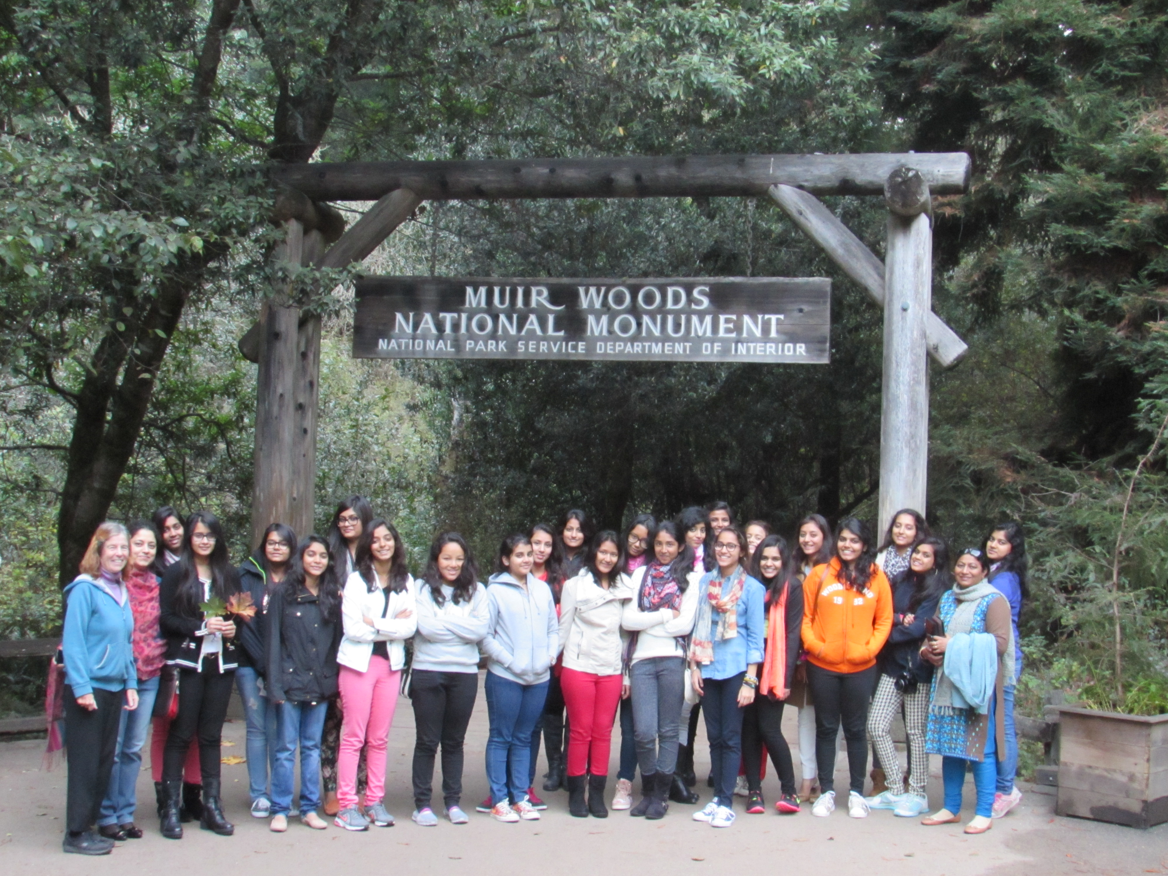 Mayo's Delegation at Muir Woods