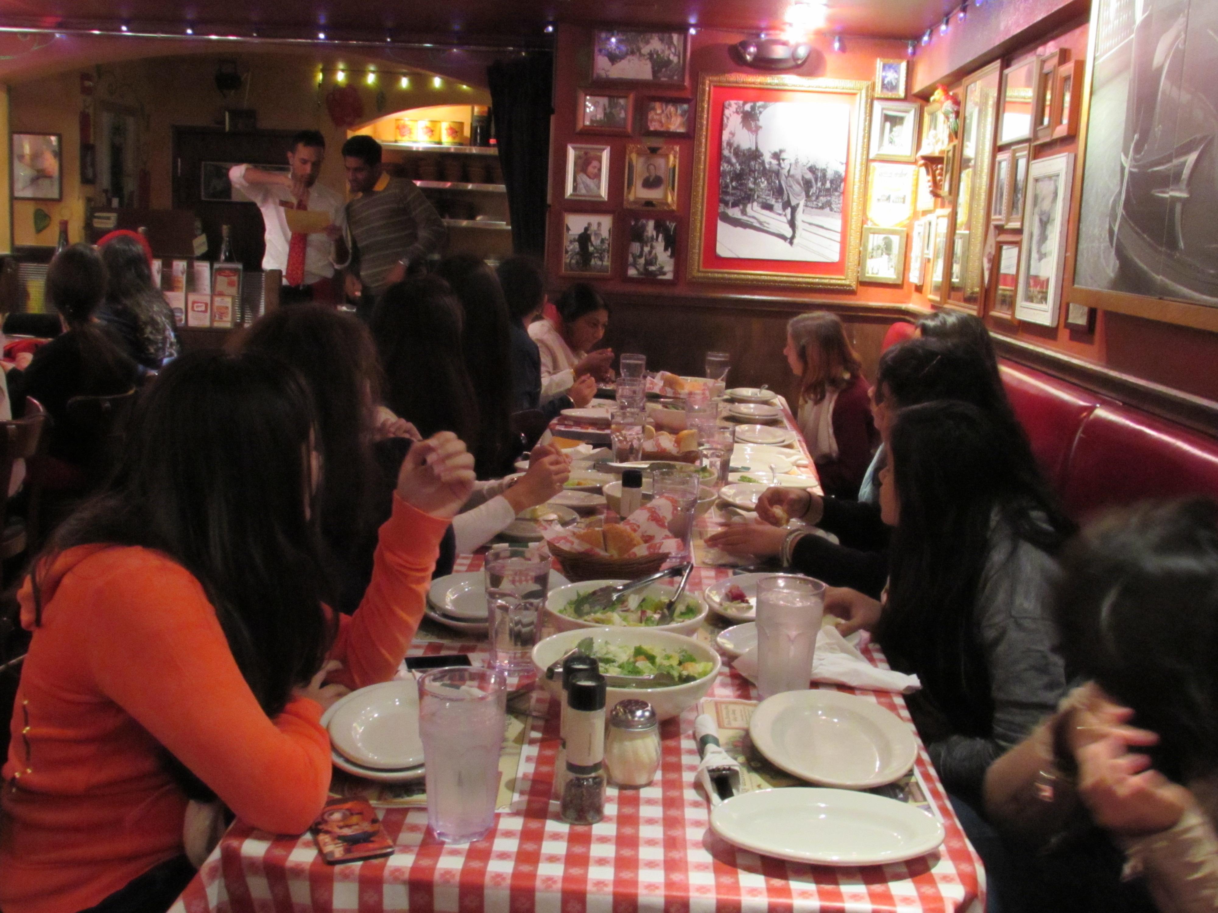 Dinner at Buca di Beppo