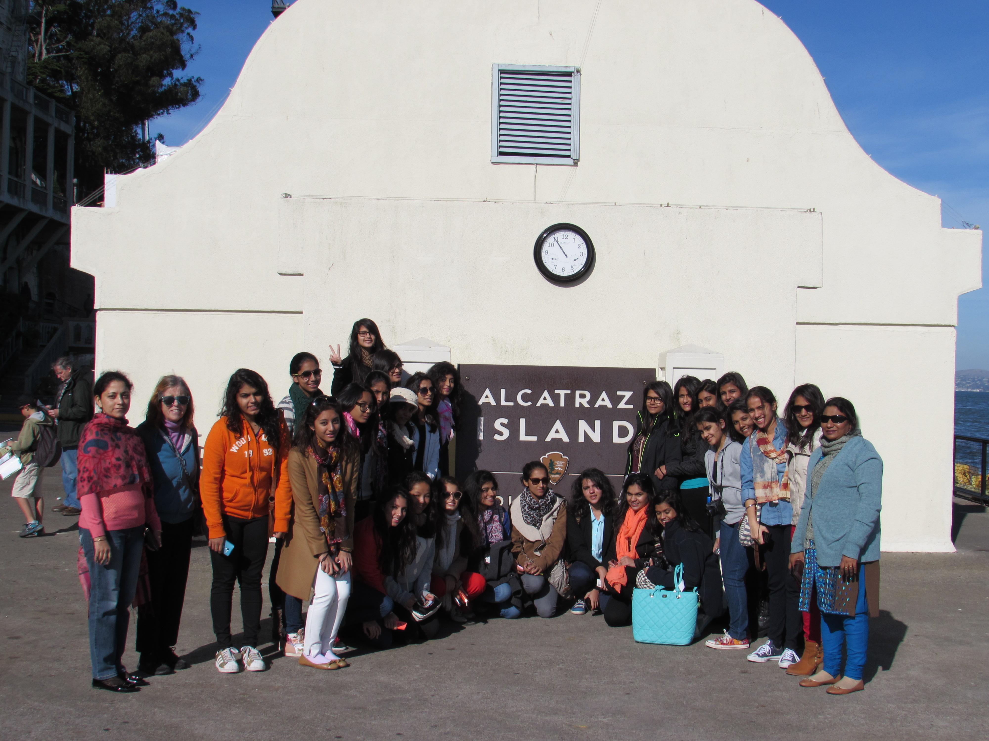 Mayo's Delegation at Alcatraz Island