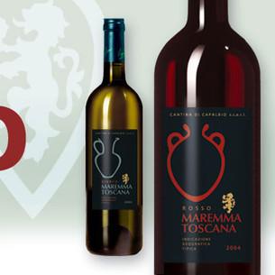Wine Label Design. Capalbio
