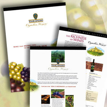 Presentation Design, Visual Branding, Website for Capalbio Winery