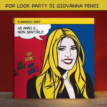 Portrait POP ART of Giovanna Fendi Caruso
