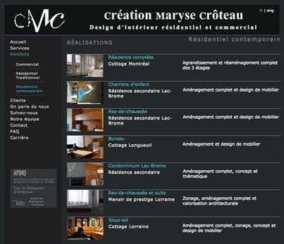 Website Design for Creation Maryse Croteau