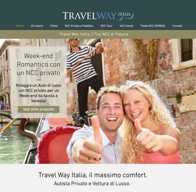 Web Design & Brand Image of Travel Way Italia