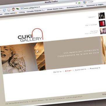 Visual Branding and Website Designfor Cuki Gallery Milan