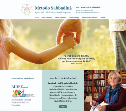 Web Design & Logo of Metodo Sabbadini - Disprassia