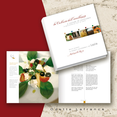 Italian Recipes Book Design for Provincia di Roma