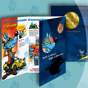 Brochure Design. Lupo Alberto for Unicell
