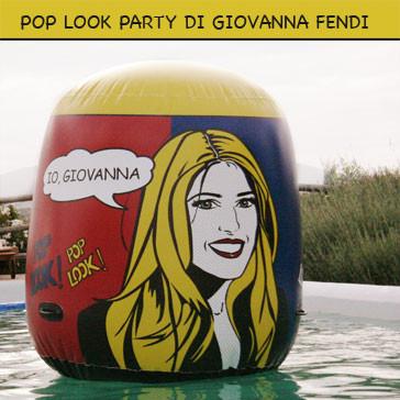 Party Pool Ball. Portrait POP ART of Giovanna Fendi Caruso