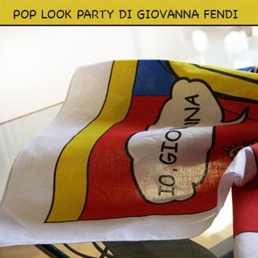 Party Foulard. Portrait POP ART of Giovanna Fendi Caruso