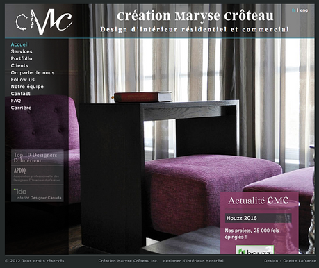 Website Design for Creation Maryse Croteau