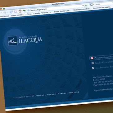 Unique WebPage Design for Studio ILACQUA