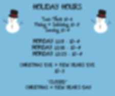 EXTENDED HOLIDAY HOURS MONDAY 12_9 _ 10