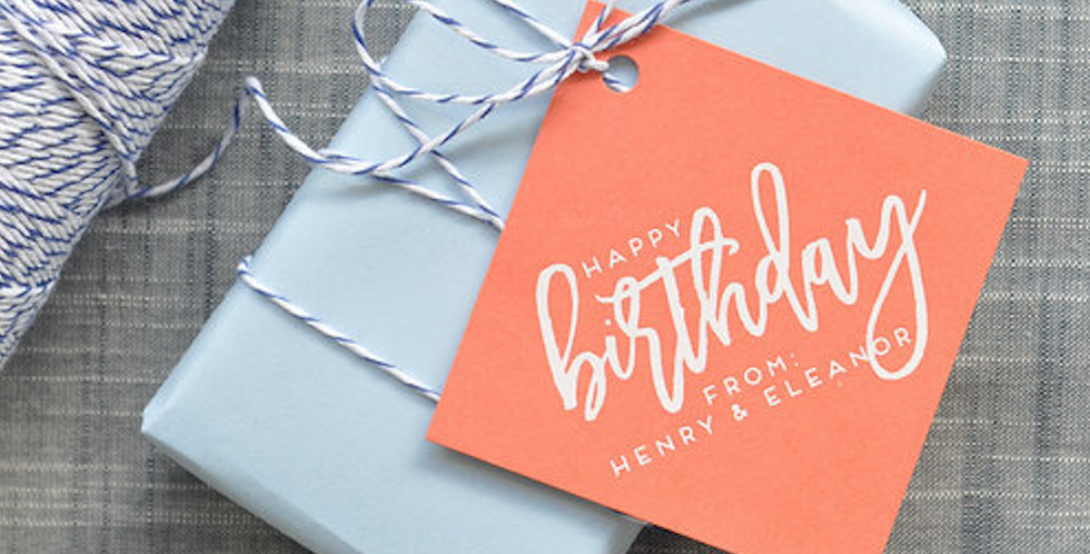Birthday Square Gift Tag