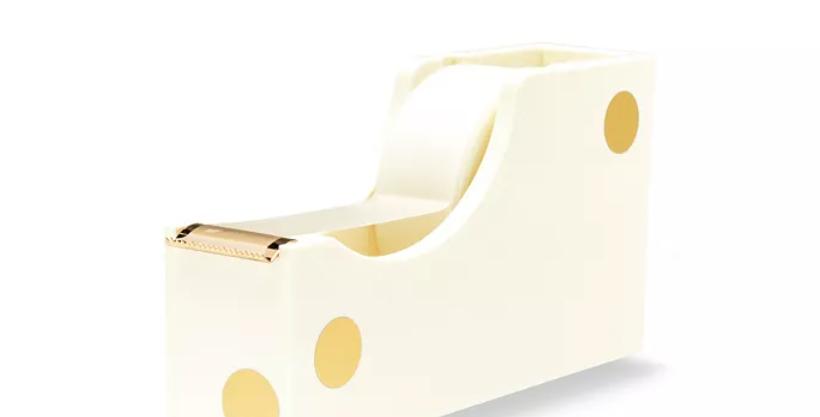 Kate Spade Acrylic Gold Dot Tape Dispenser