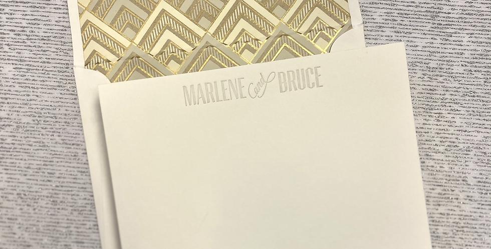 M&B Letterpress Stationery Set