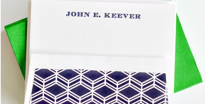 Keever Flat Print Stationery Set