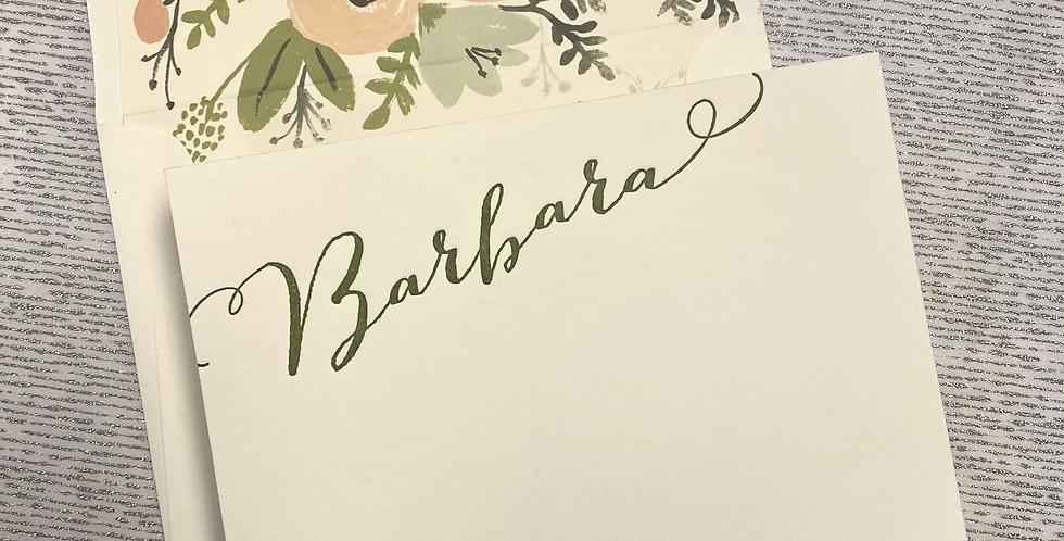 Barbara Letterpress Stationery Set