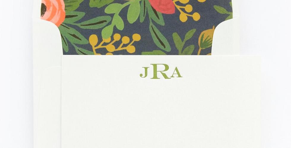 JAR Monogram Letterpress StationerySet
