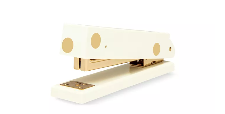 Kate Spade Acrylic Gold Dot Stapler