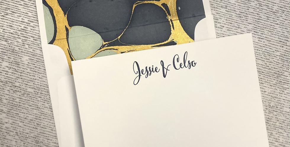 J&C Flat Print Stationery Set