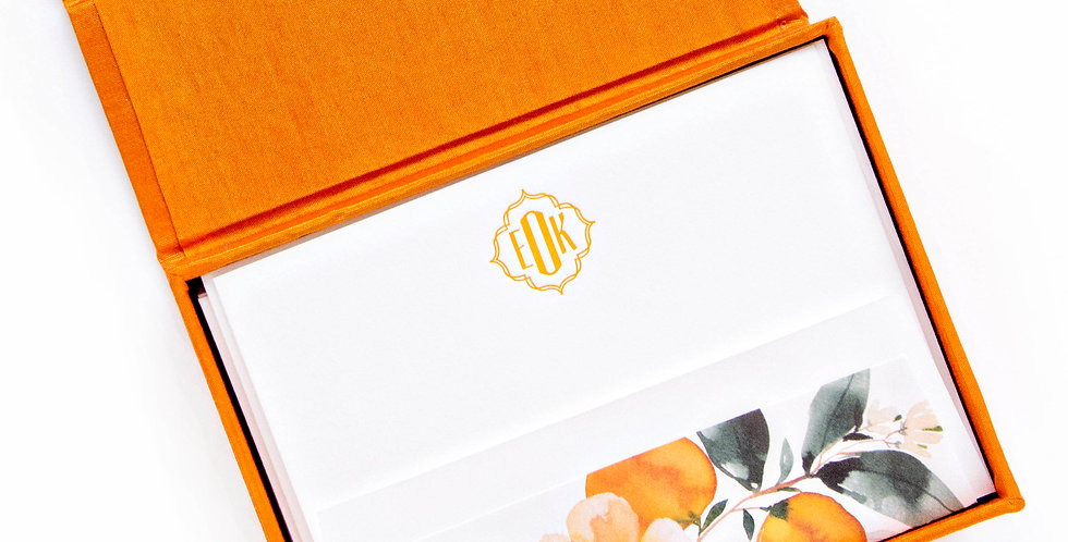 EKO Monogram Letterpress Stationery Set
