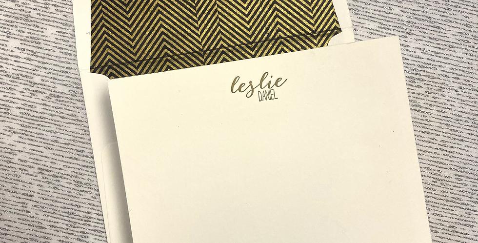 Leslie Daniel Letterpress Stationery Set