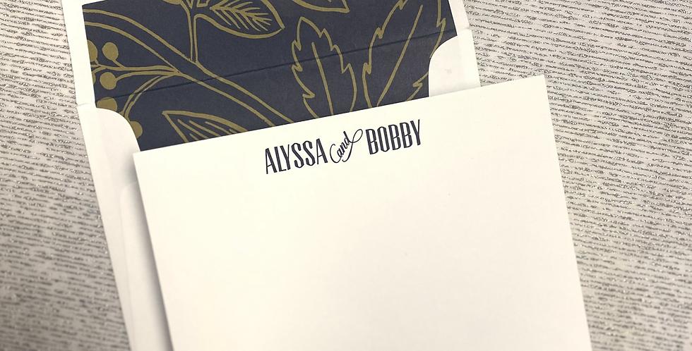 Alyssa & Bobby Stationery Set