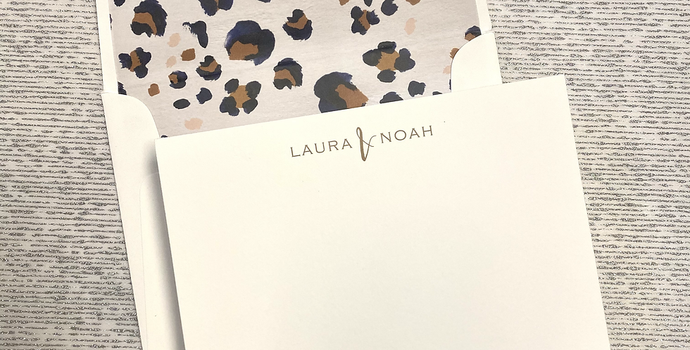 Laura & Noah Stationery Set
