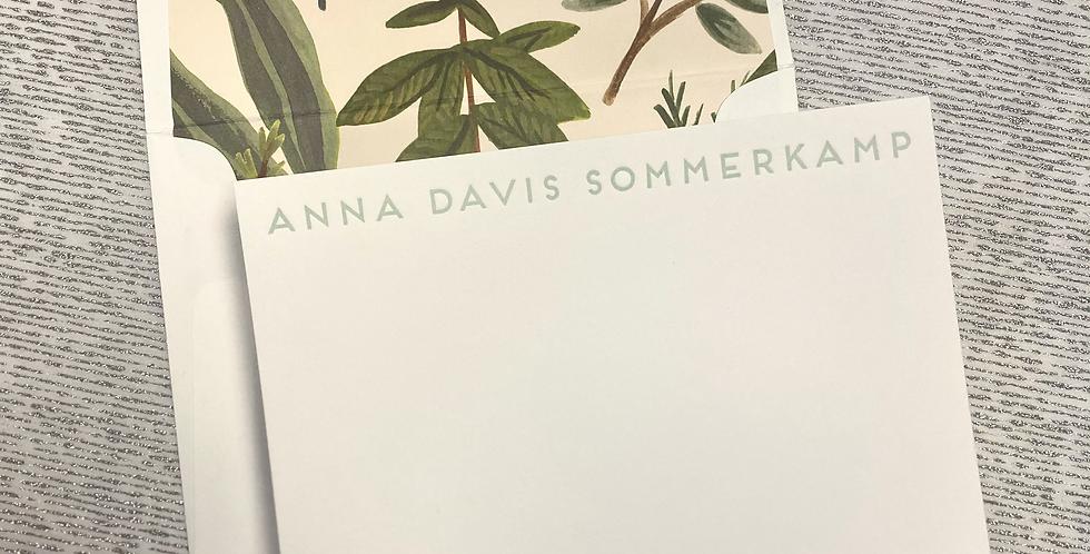 Sommerkamp Flat Print Stationery Set
