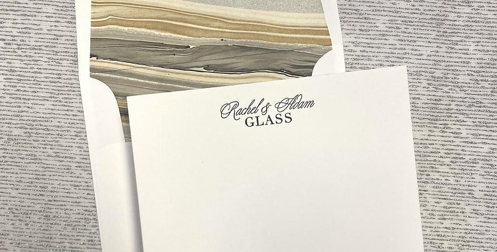 Glass Letterpress Stationery Set