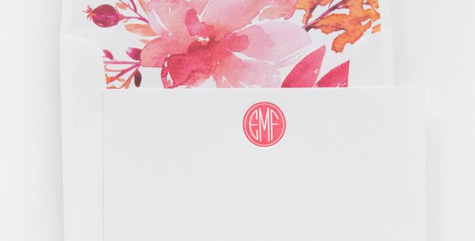 EFM Monogram Letterpress Stationery Set