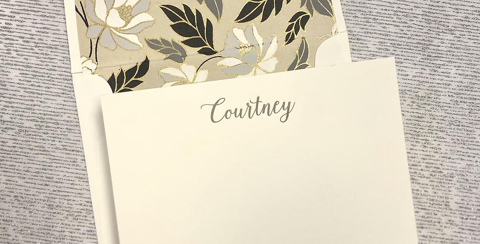 Courtney Letterpress Stationery Set