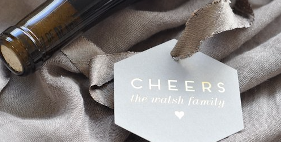 Cheers Hexagon Gift Tag