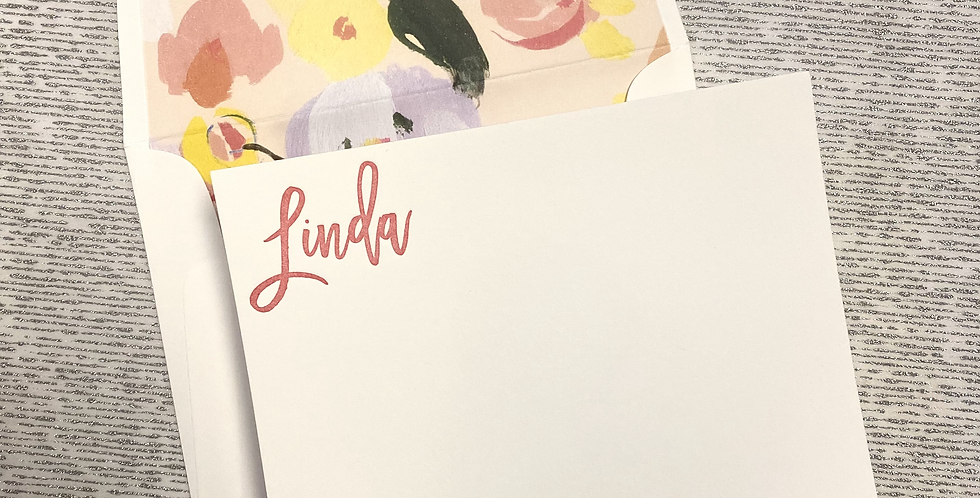 Linda Letterpress Stationery Set