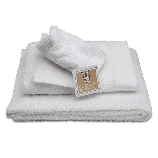 Juego de toallas 80. Blanco