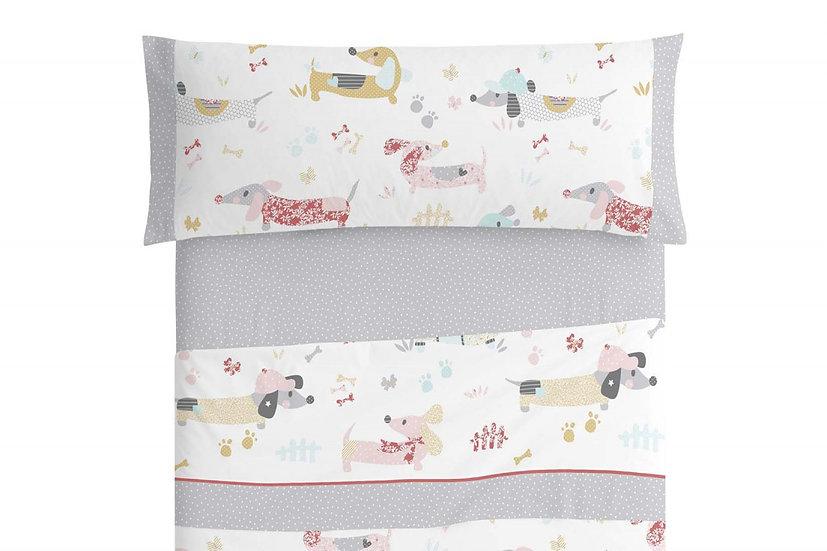 Juego de sábanas infantil 169 gris