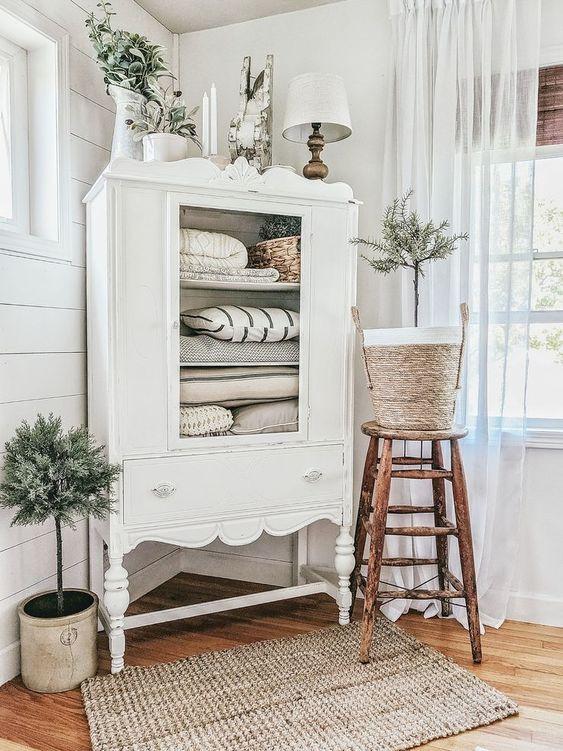 Mueble blanco decoración