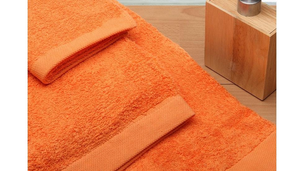 Juego de toallas 080. Naranja
