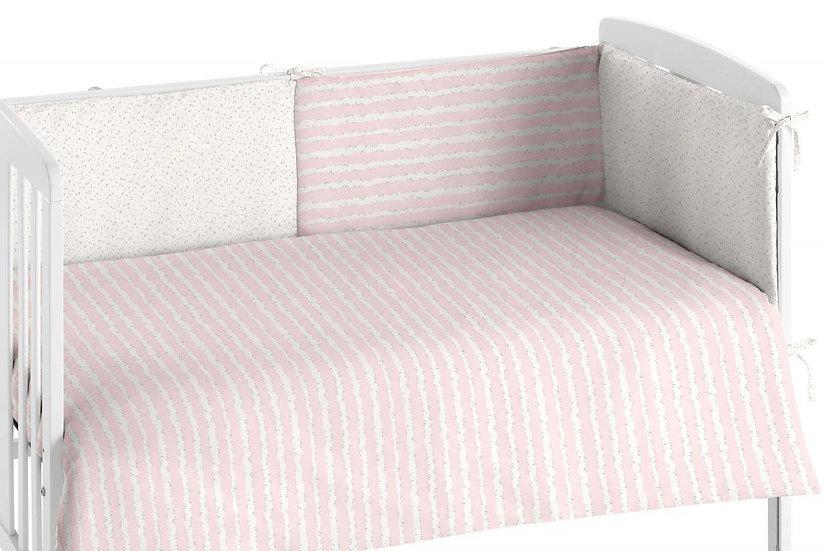 Edredón para bebés con protector 011 rosa