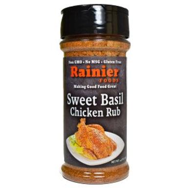 Rainier Sweet Basil Chicken Rub, 4.5 oz