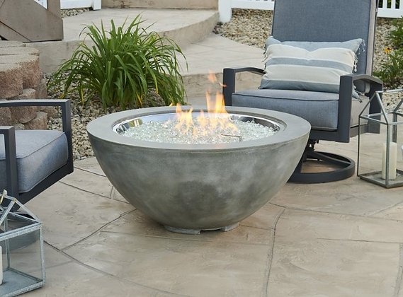Outdoor GreatRoom Cove Firepit w/natural grey concrete finish & CF-30