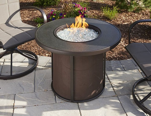 Outdoor GreatRoom Firepit, Stonefire, Brown