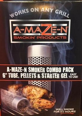 "A-MAZE-N Combo Pack - 6""/6"" tube smoker, prefilled, gel firestarter 4 oz"