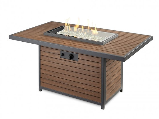 Outdoor GreatRoom Firepit, Kenwood Fire Table, Brown