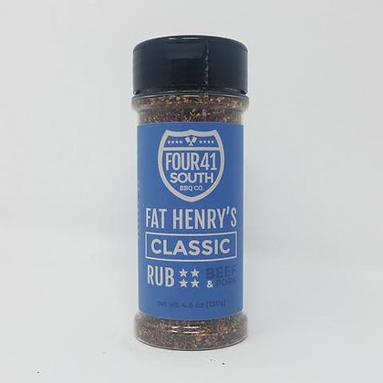 Four 41 South Rub, Fat Henry's Classic Rub 4.6 oz